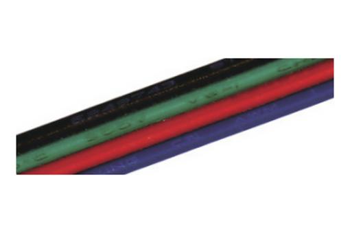 Kabel RGB plochý 4x0,15mm2, metráž (3205071609)