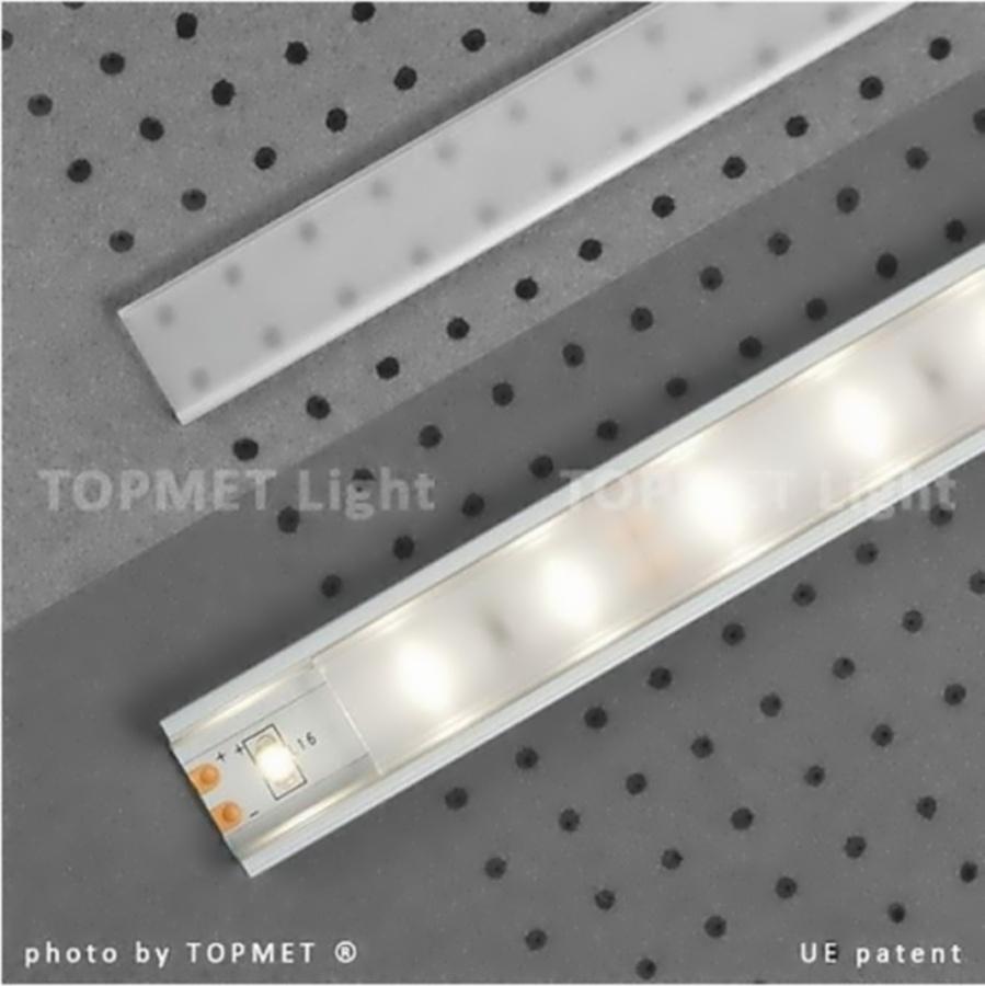 Lišta pro LED krycí KLIP PP1/PP2/PP3 JEMNĚ MATNÁ 2m UV 11,12,6