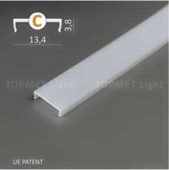 Lišta pro LED krycí KLIP PP1/PP2/PP3 2 m OPAL (mléčná)