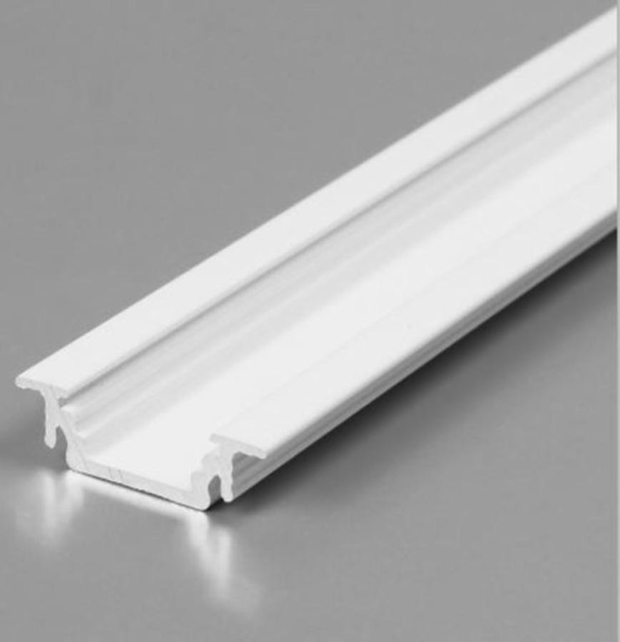 Lišta pro led PP2 ZAPUŠTĚNÁ - bílá 2m bez krycí lišty