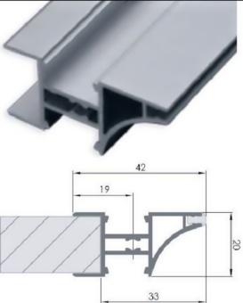 Lišta pro LED WIRELI EDGE A (1 metr) (C)