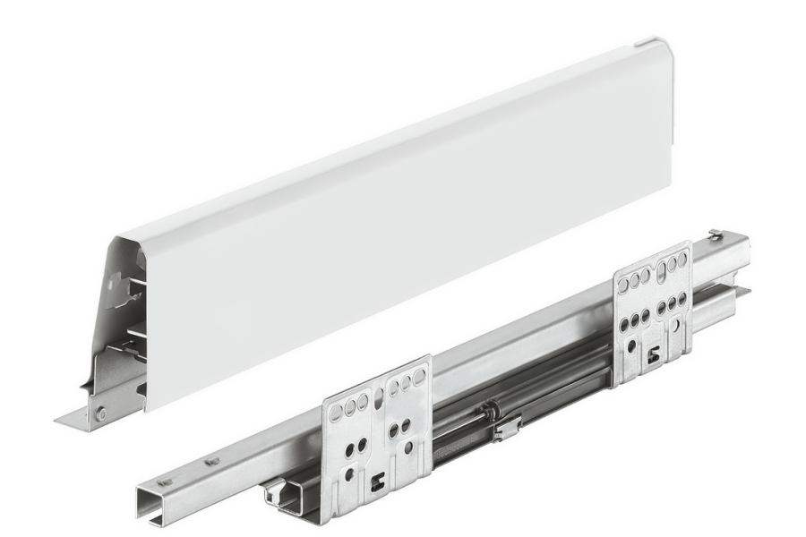 Häfele Matrix Box Bílý, 400mm výška 84 mm, nosnost 35 kg, s tlu