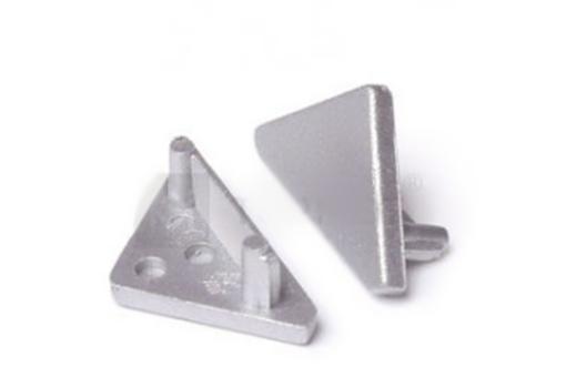 Koncovka PP4 - CABI12 rohová stříbrná