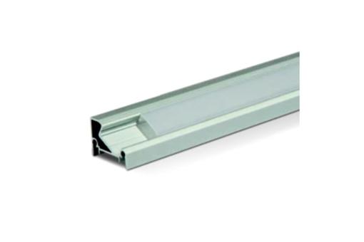 Profil LED ECKE 1 - bez krytky. Možno do rámu al., nebo Chrom