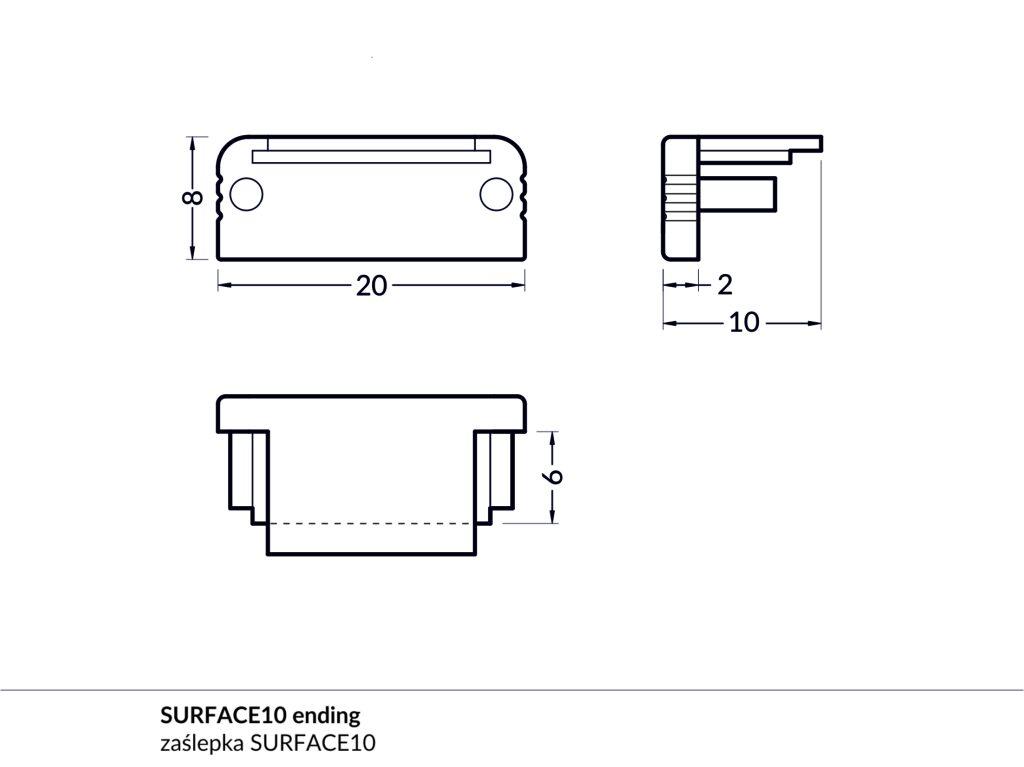 Koncovka Wireli 11 Surface bílá (C)