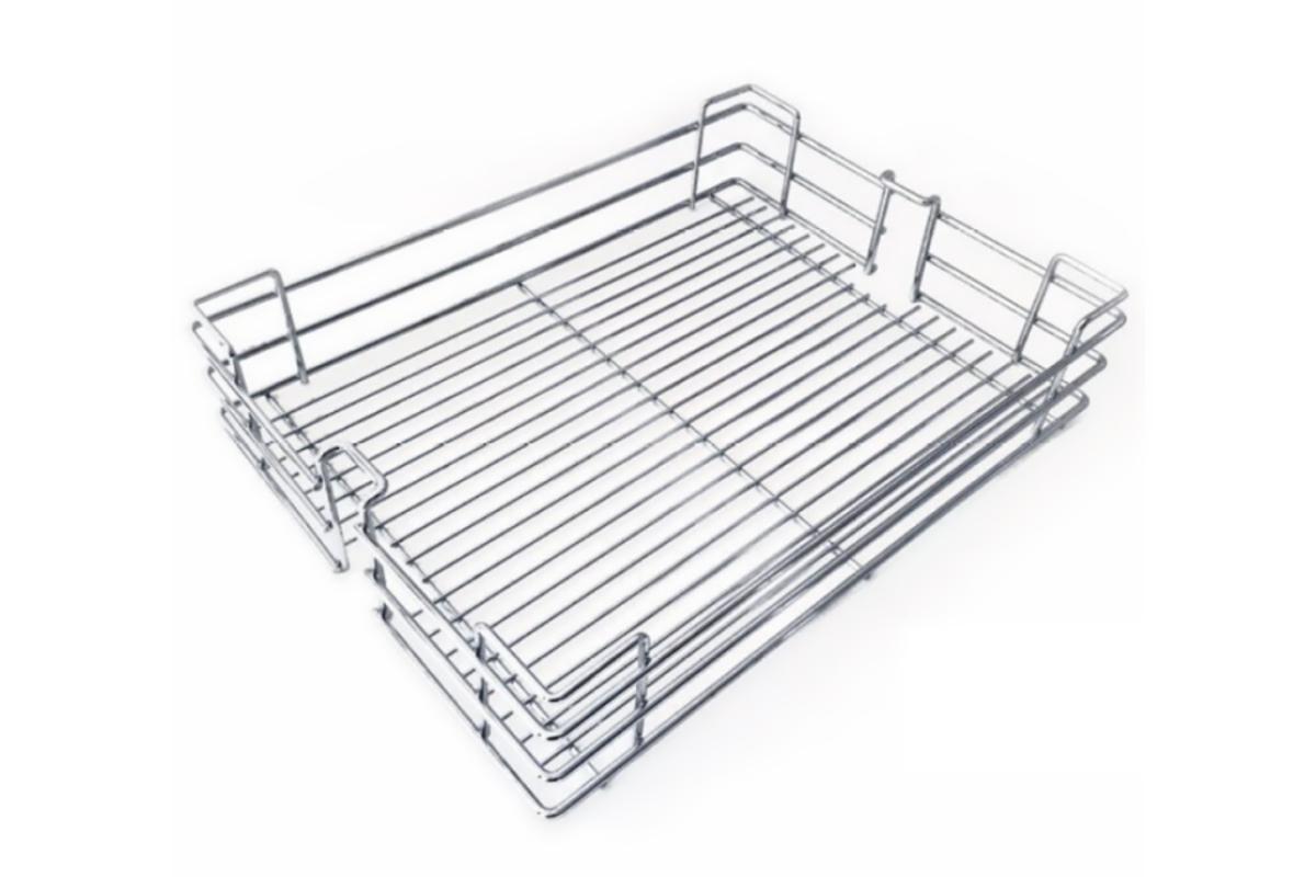 Koš pro potravinovou skříň, 300, drátěný, 255x460x95 mm, chrom