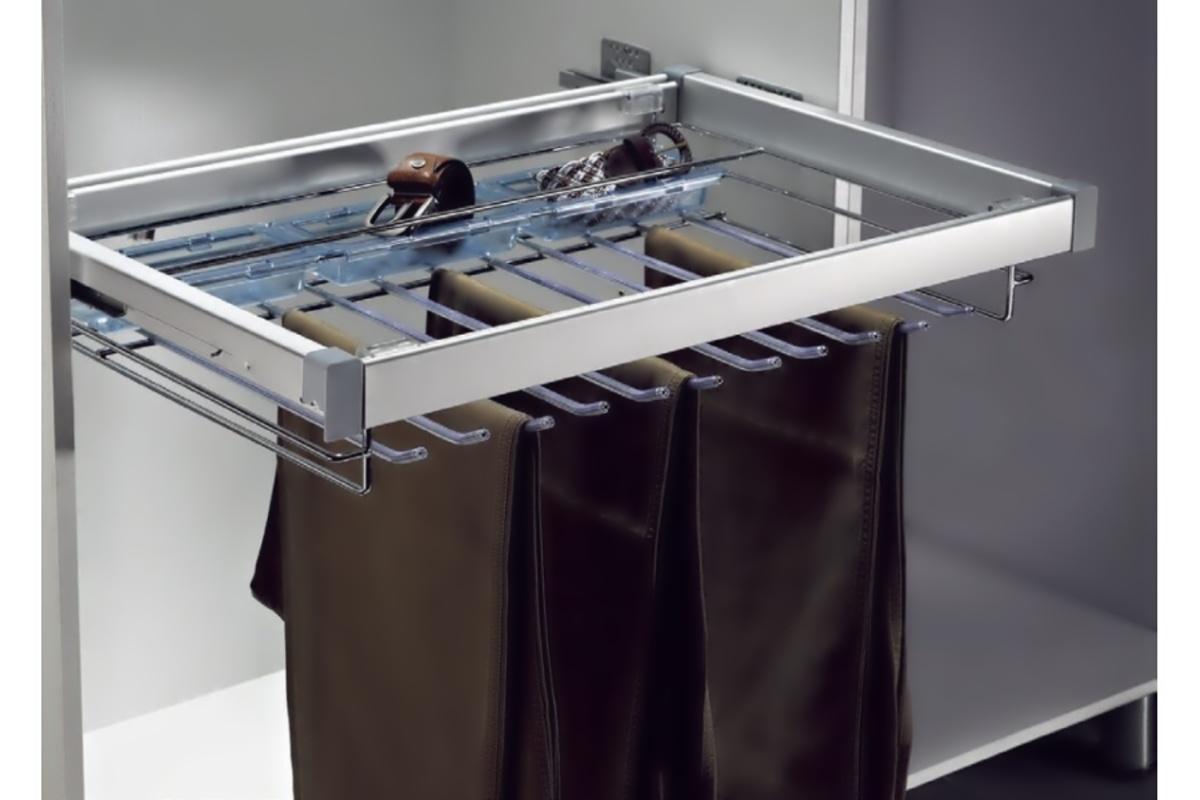 Věšák na klahoty - 7 ramen, 2 plastové misky, 485x427x110 mm, ch