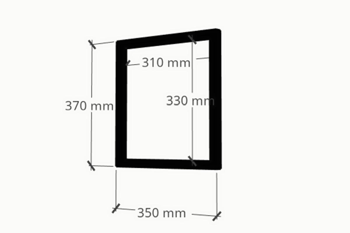 Policový systém Clever cube 370x350 RAL 9005 mat /10CRCCZ370/