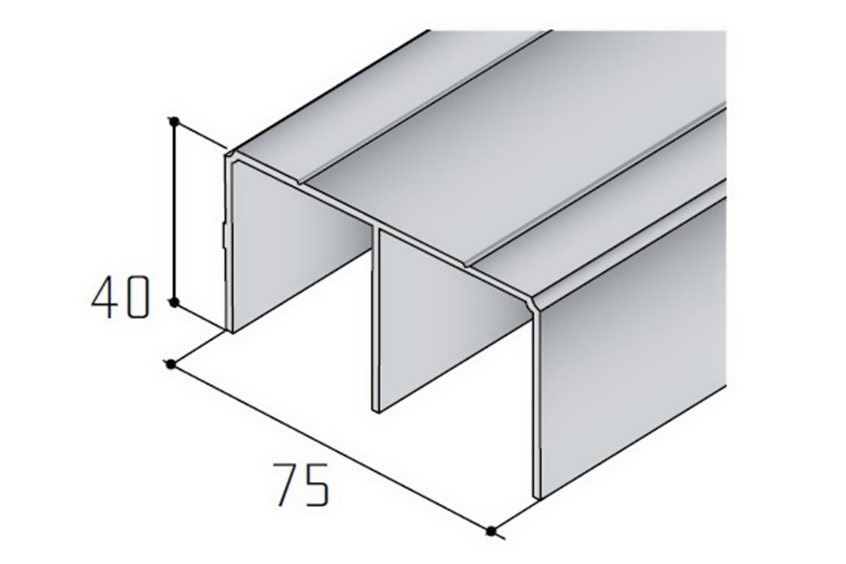 Vodící profil horní S 05 bílá RAL 9003 /17D0HS05/ (1) 1bm