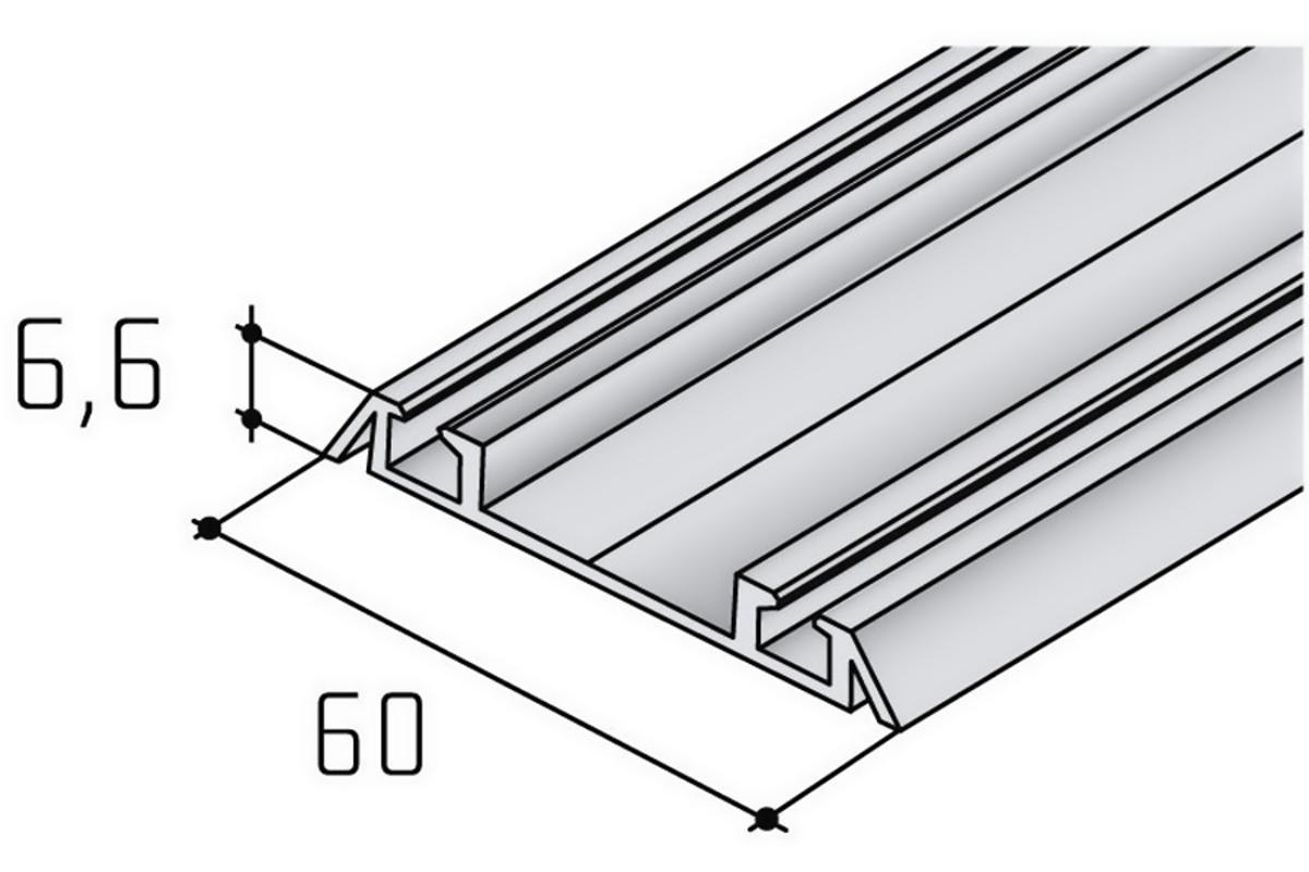 Spodní profil S06N hranatý bílý RAL 9003/17D0D06N/ bm(1)