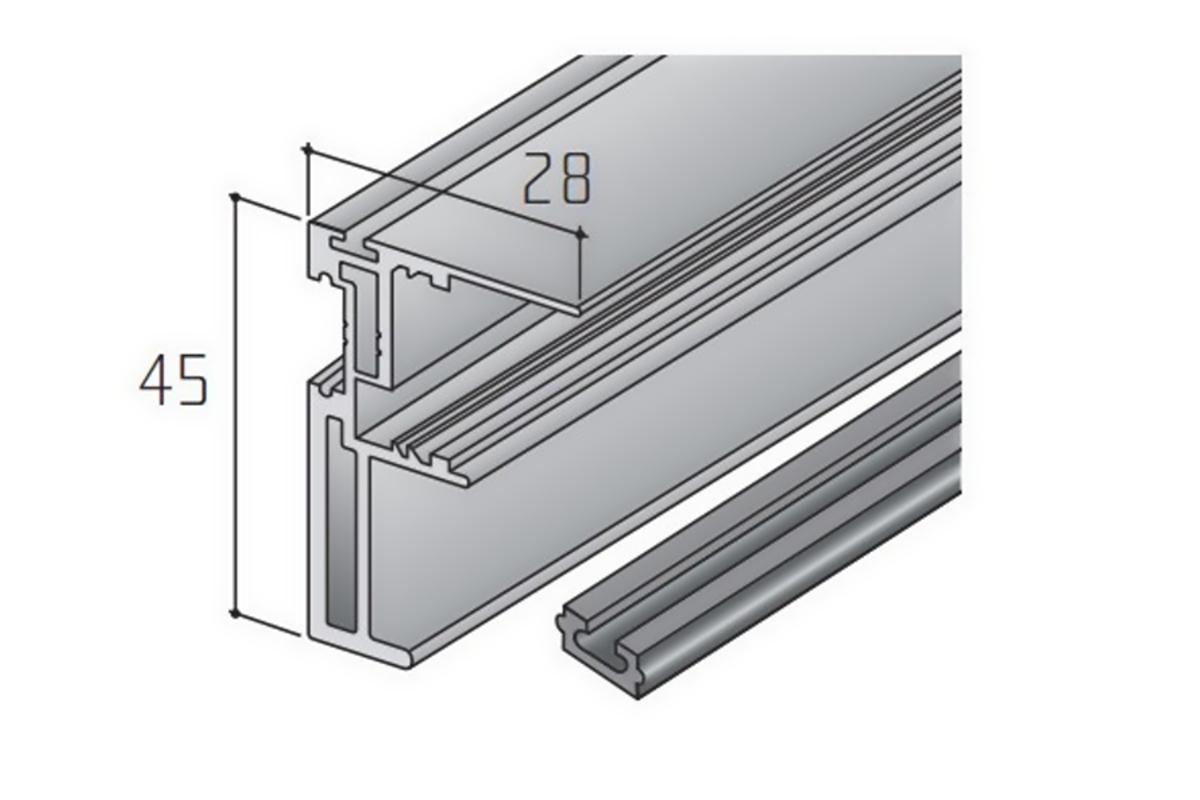 S45A madlo elox 2,7m /15D1S45A27/+krycí profil