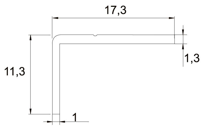 Úhelník Salu 07 sv.bronz /17D3S070 / 1bm (1)