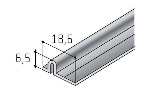 Dolní vodící lišta na kování S 50 surový hliní/13D2S50D/ 1bm