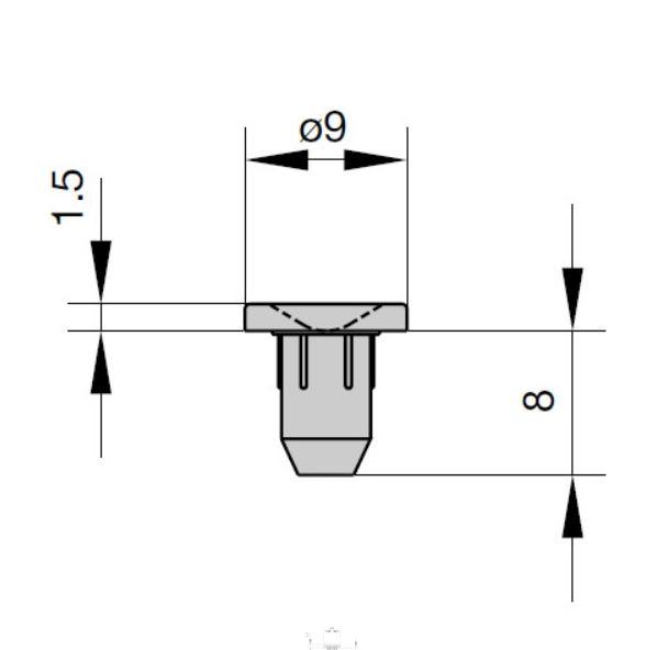 Dorazová čočka zavrtávací 5mm lepší 14.160071-9101 transparentn