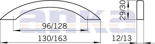 Úchytka 12048 nikl jemně broušený, rozteč 128mm (A34)
