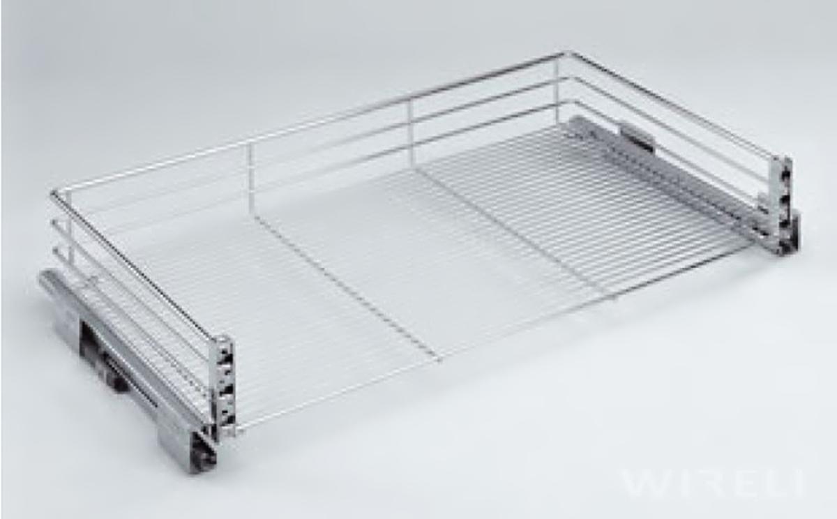 Plnovýsuvný koš s úchyty na dvířka 440-485x480x165 do 50 skříně