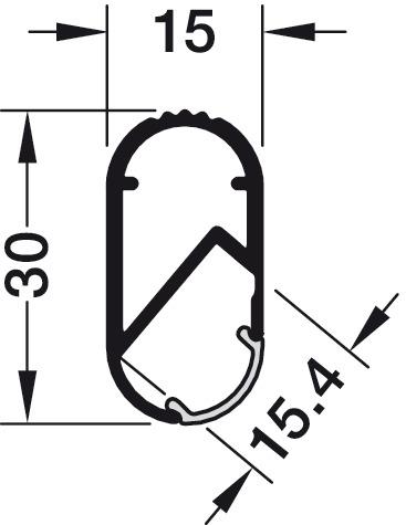 833.72.790 Šatní tyč Häfele Loox,Hliník 2,5bm