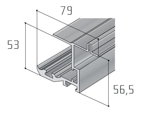 S45 horní profil /19D1S45H/ délka 1bm