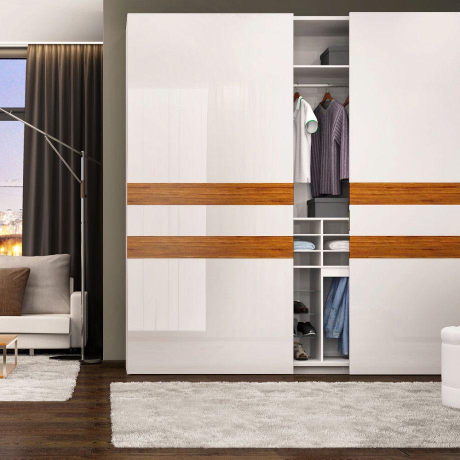 Kování pro posuvné dveře ve skříních - S61 In-Line šíře 2bm