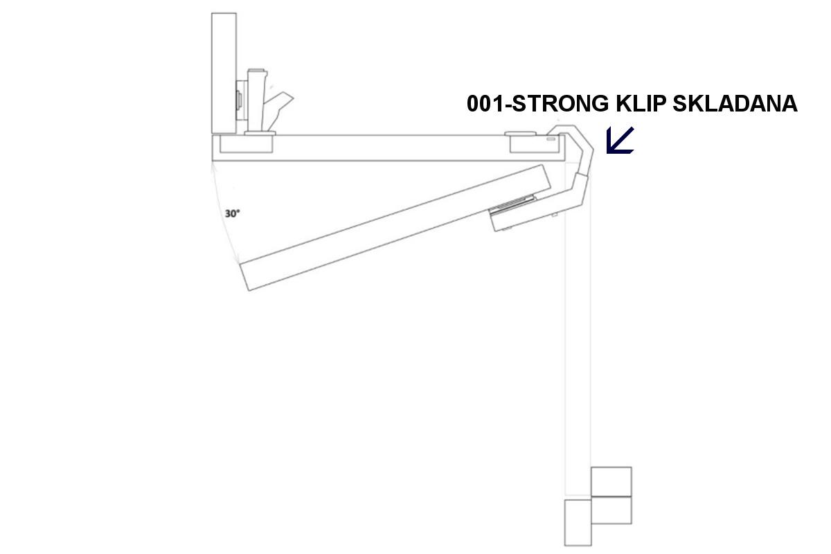 Pant STRONG KLIP + podložka 135°skládaná dvířka/zalomený/ O35mm